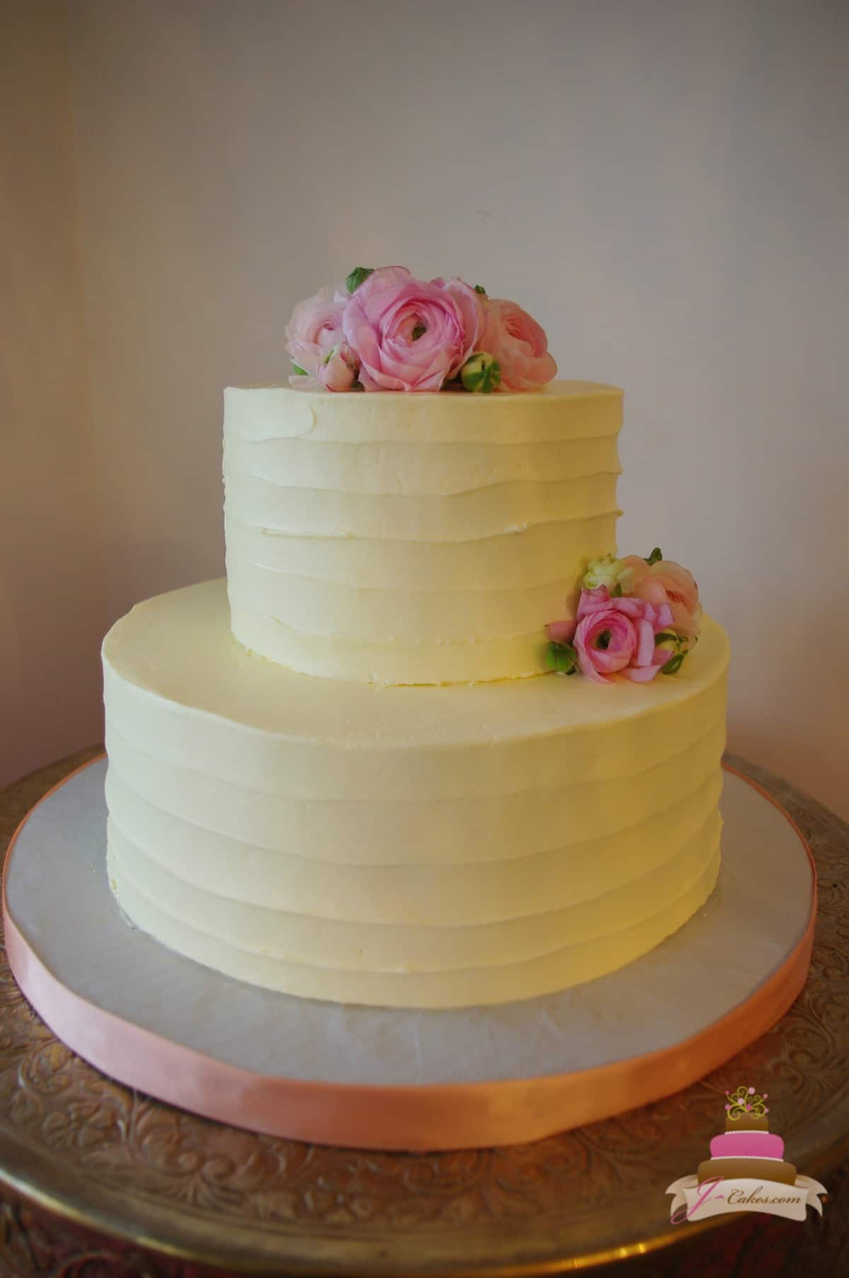 (314) Textured Bridal Shower Cake
