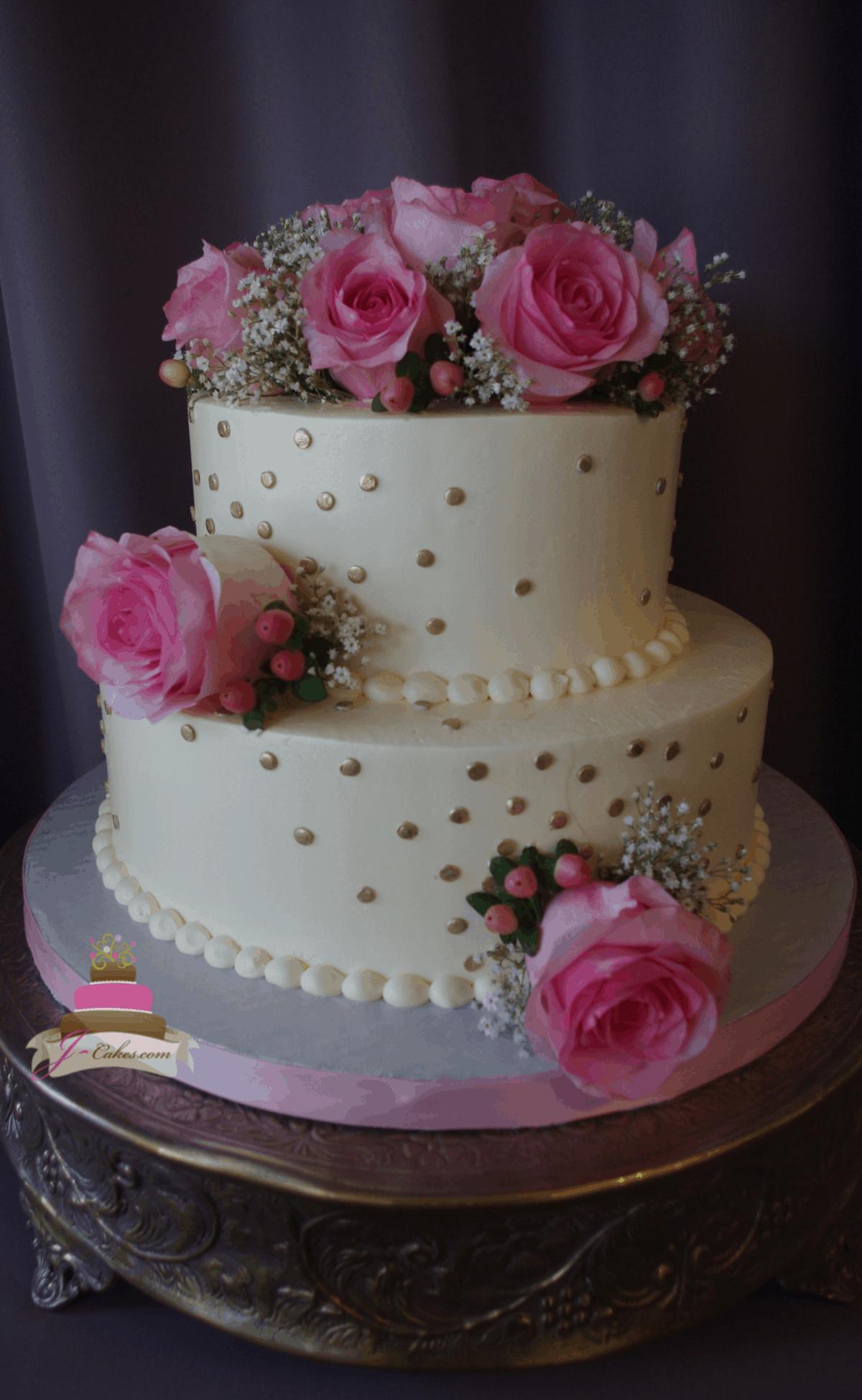 (321) Gold Dot Cake