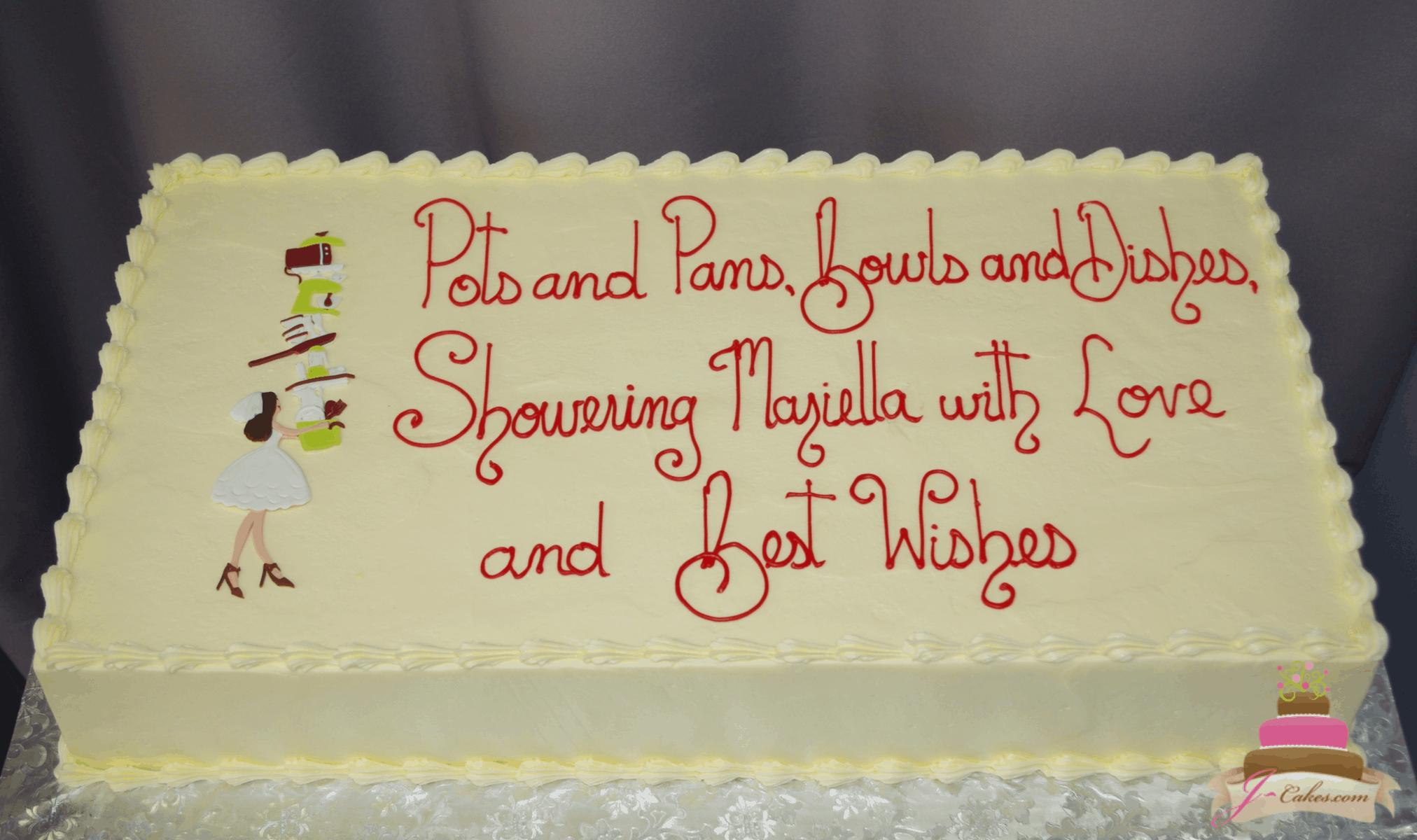 (323) Kitchen Theme Bridal Shower Cake