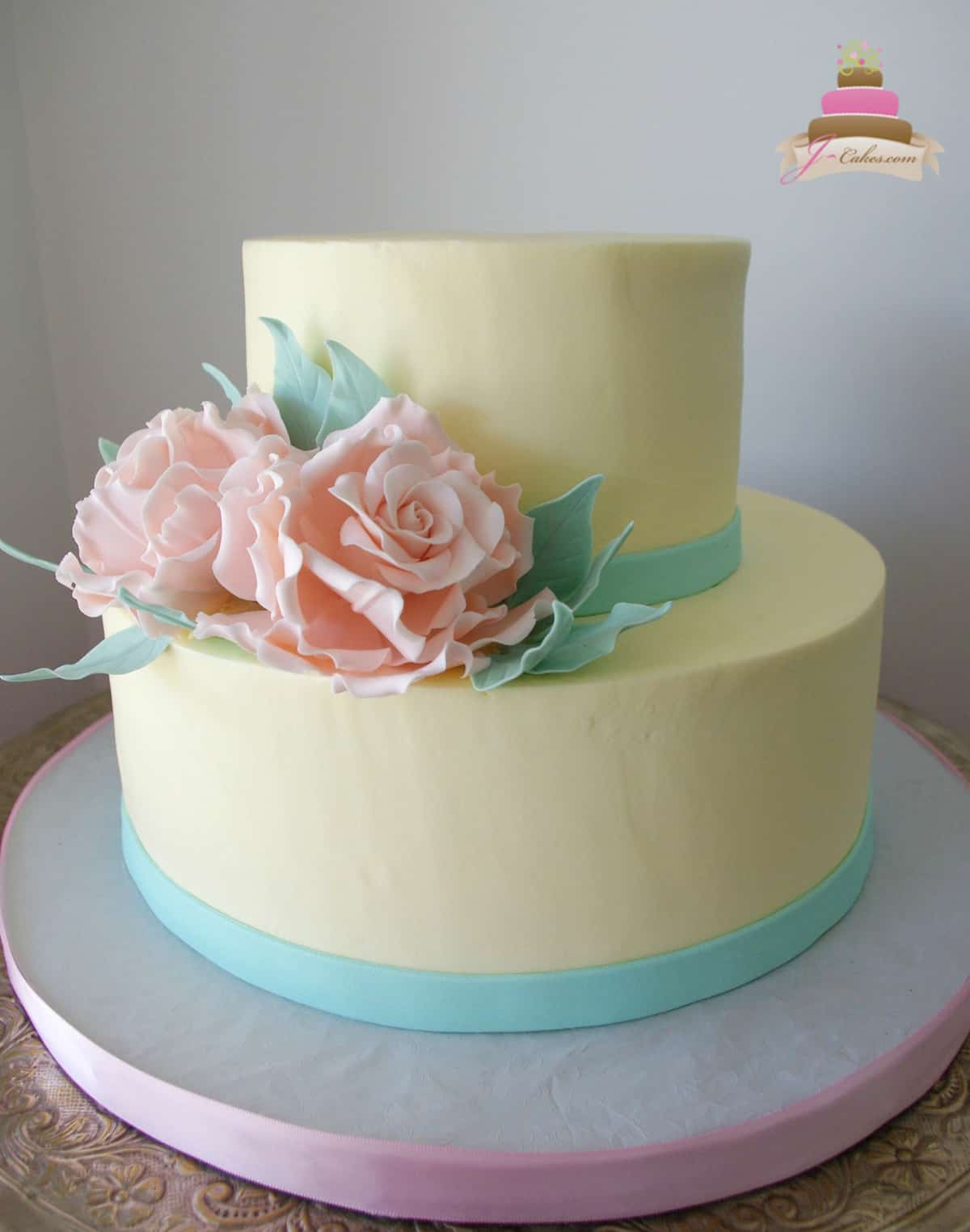 313 two tier bridal shower cake