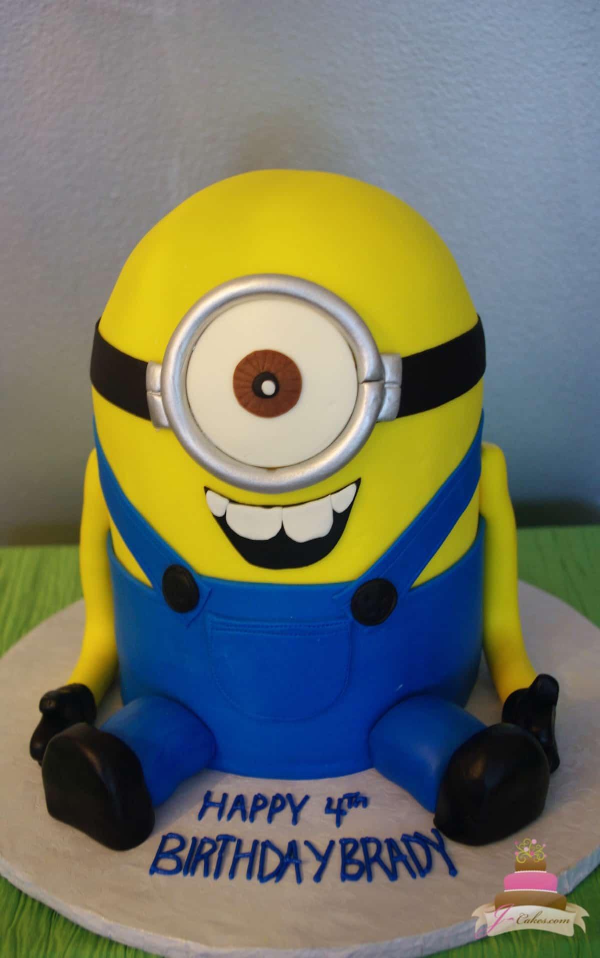 (473) 3D Minion Cake