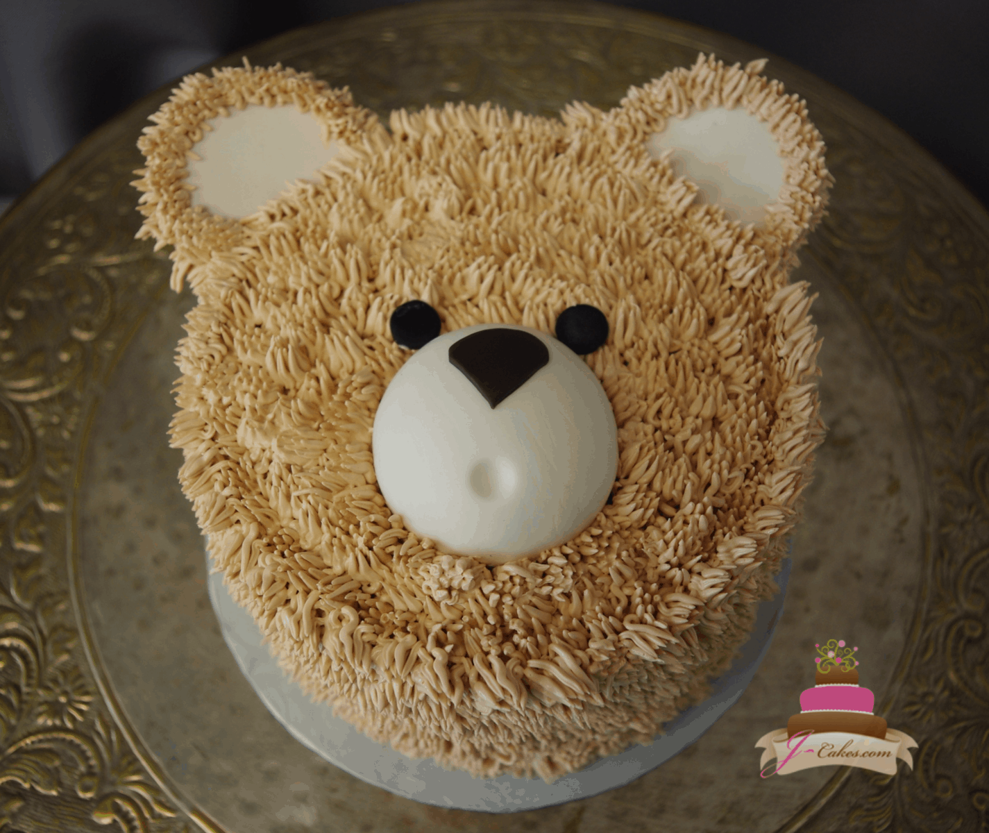 (527) Teddy Bear Face Cake