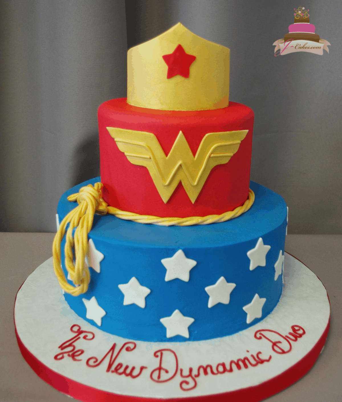 (528) Wonder Woman Tiered Cake