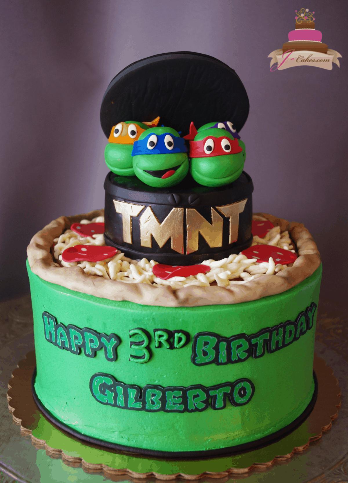 (548) TMNT Cake
