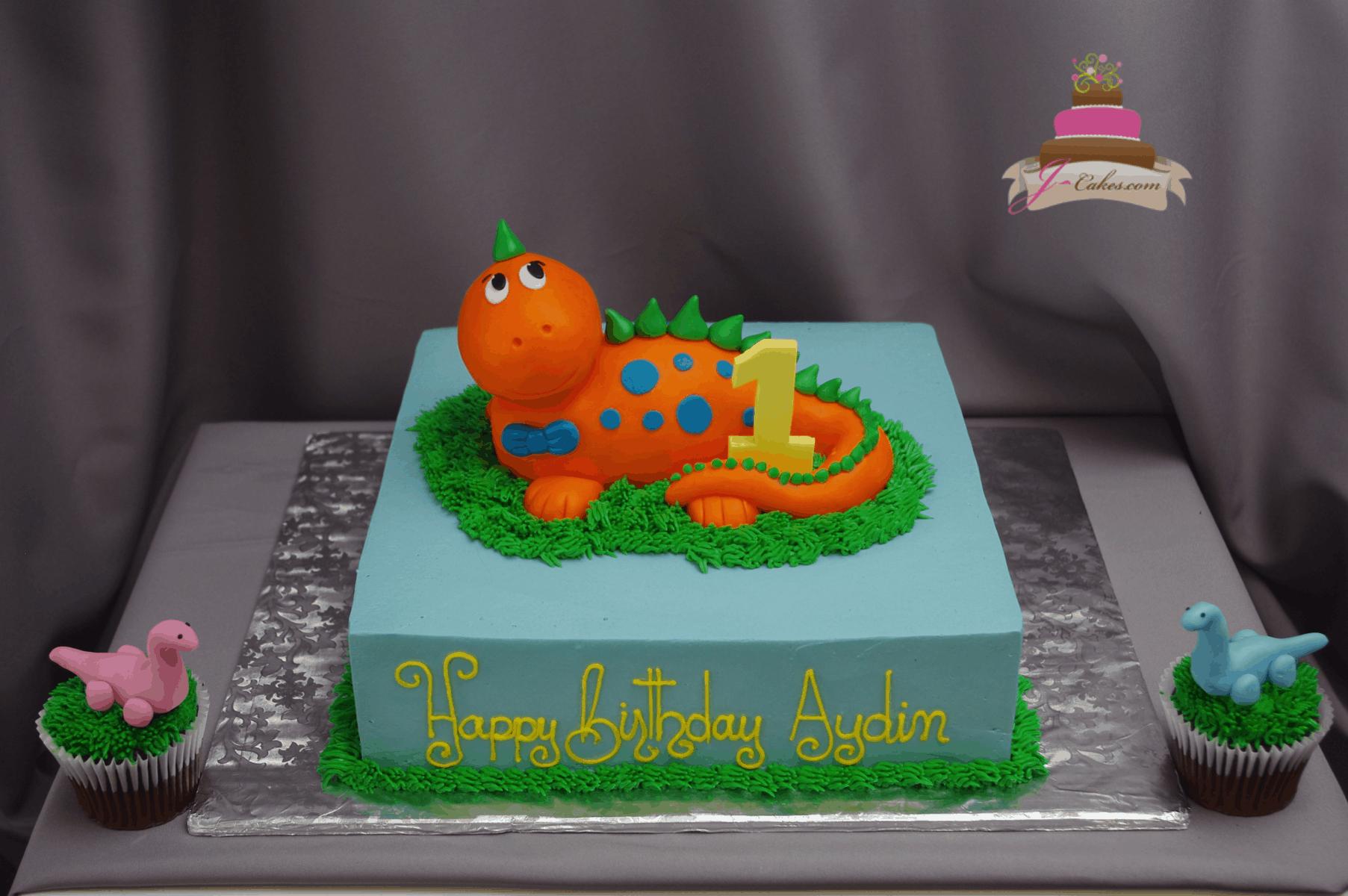 (556) Dinosaur Cake