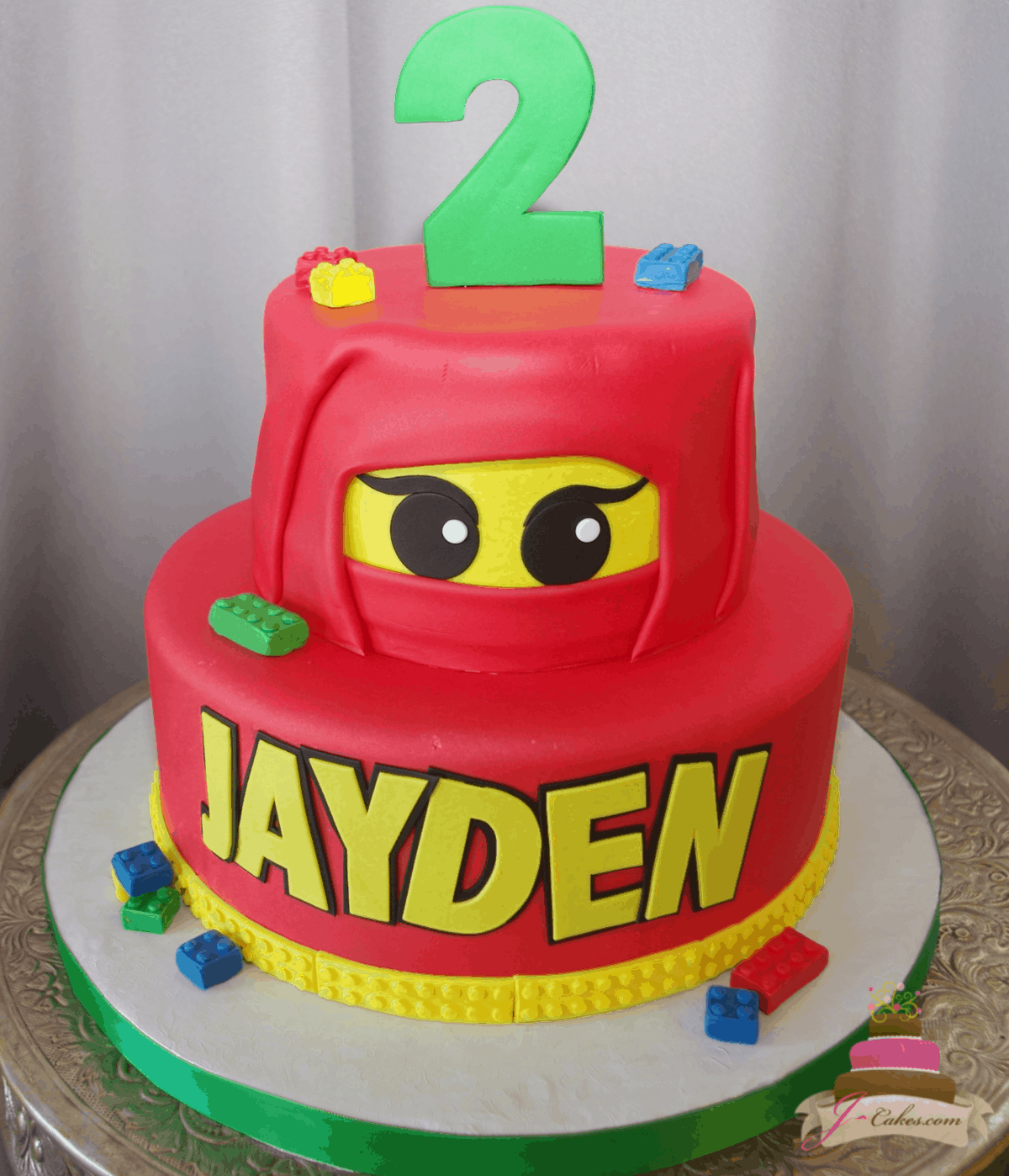(561) LEGO Ninjago Tiered Cake