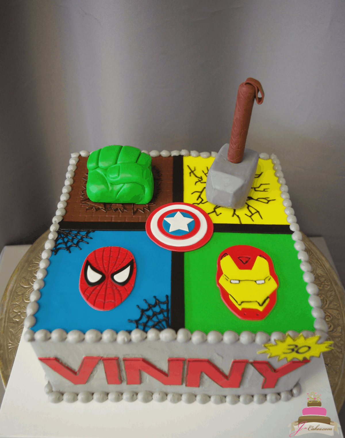 (568) Marvel Superhero Cake
