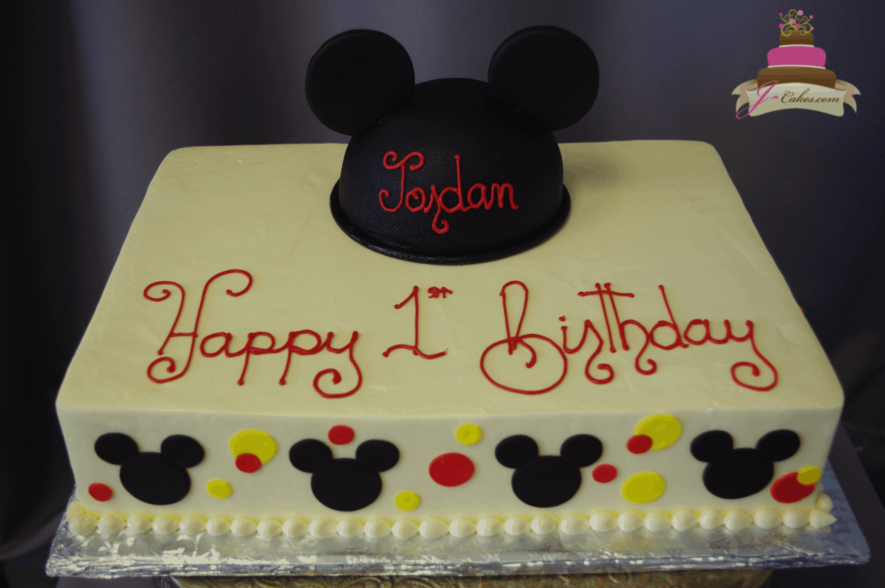 (571) Mickey Hat Sheet Cake
