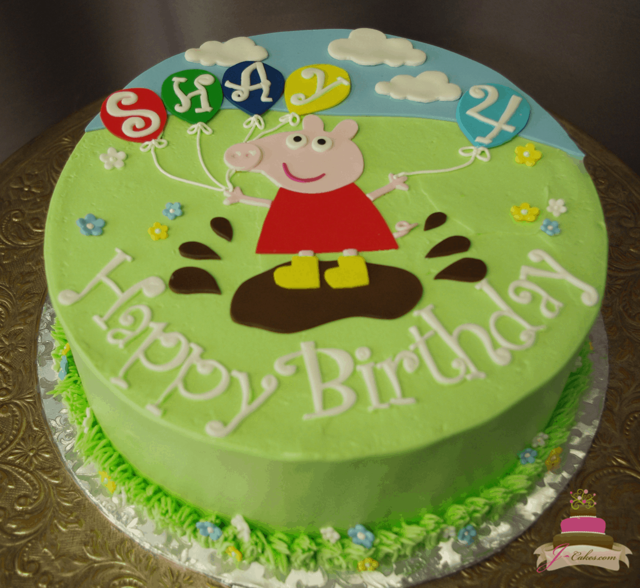 (573) Peppa Pig Birthday Cake