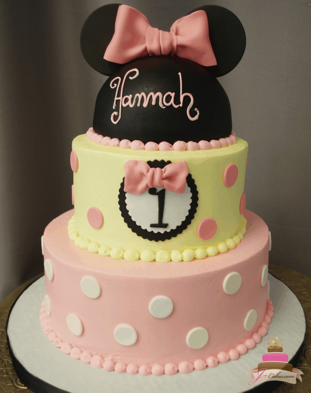 (577) Light Pink Minnie Mouse Cake