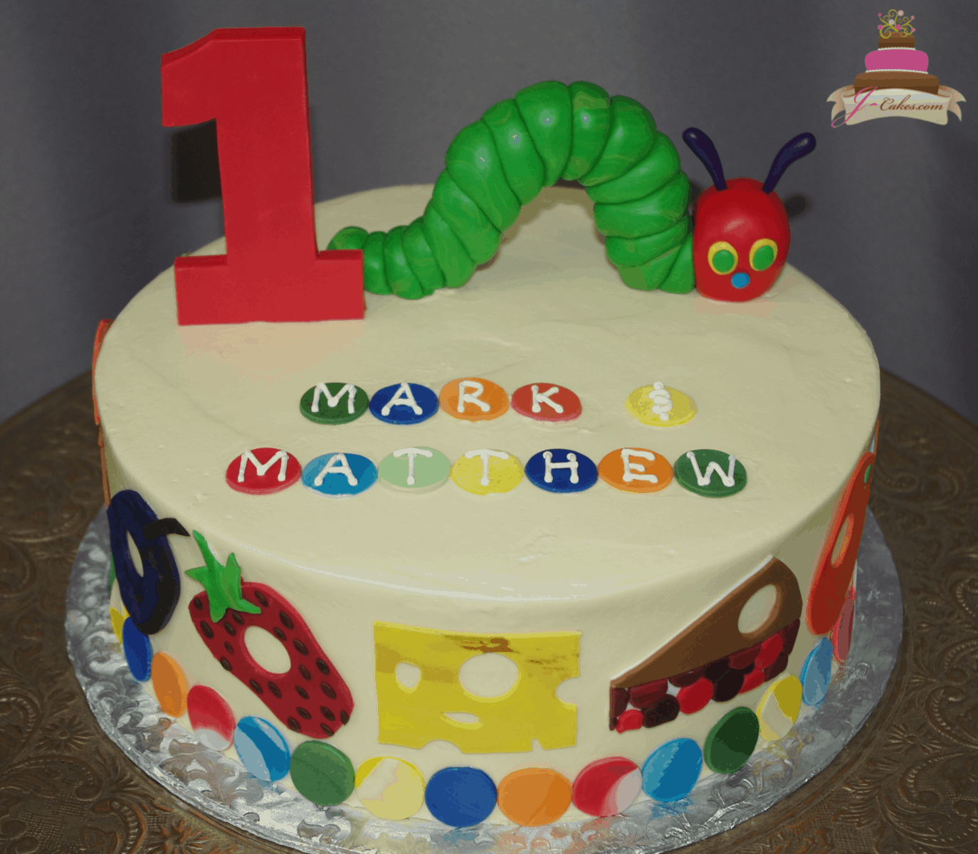 (580) Very Hungry Caterpillar Round Cake