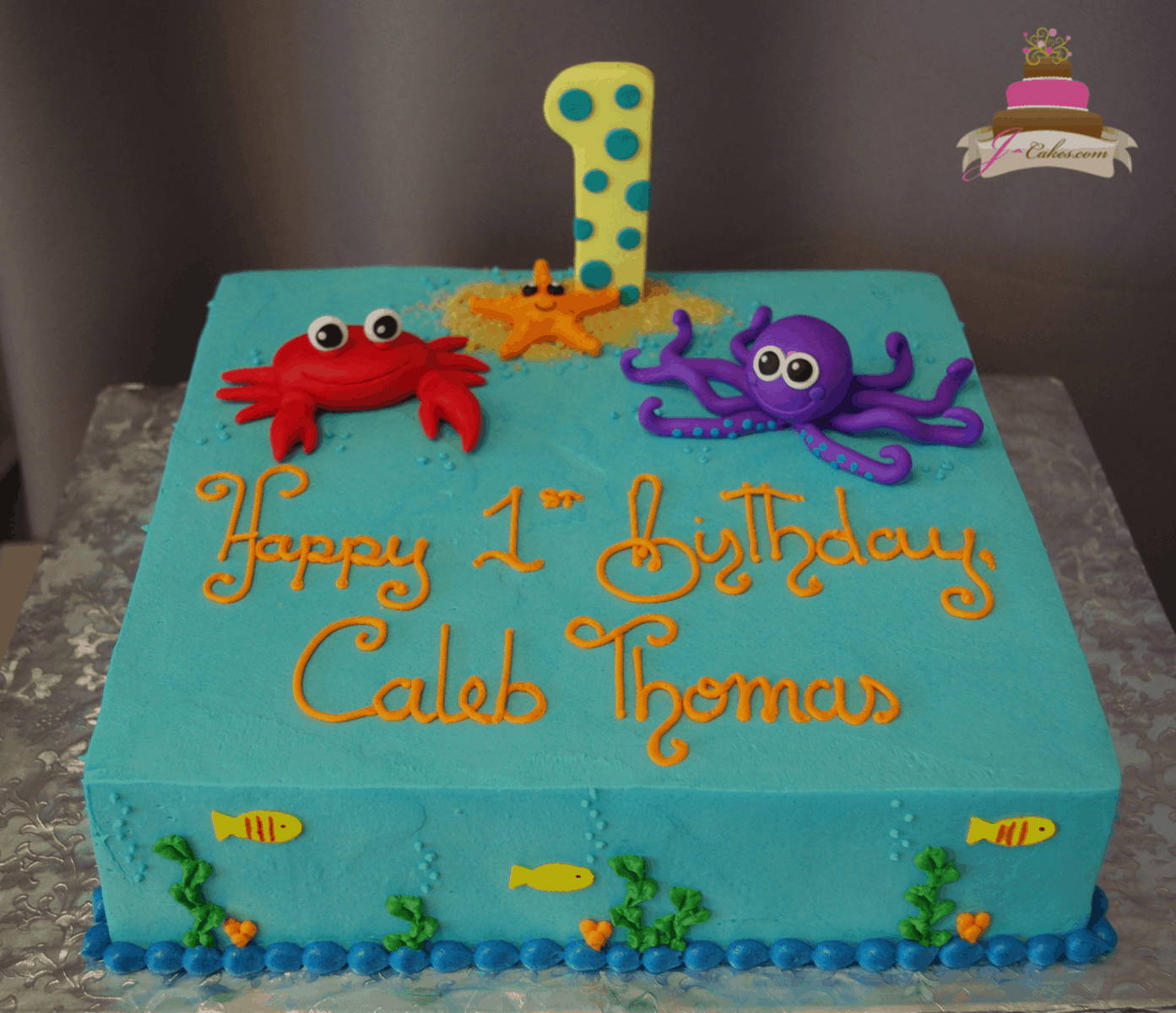 (581) Under the Sea Sheet Cake
