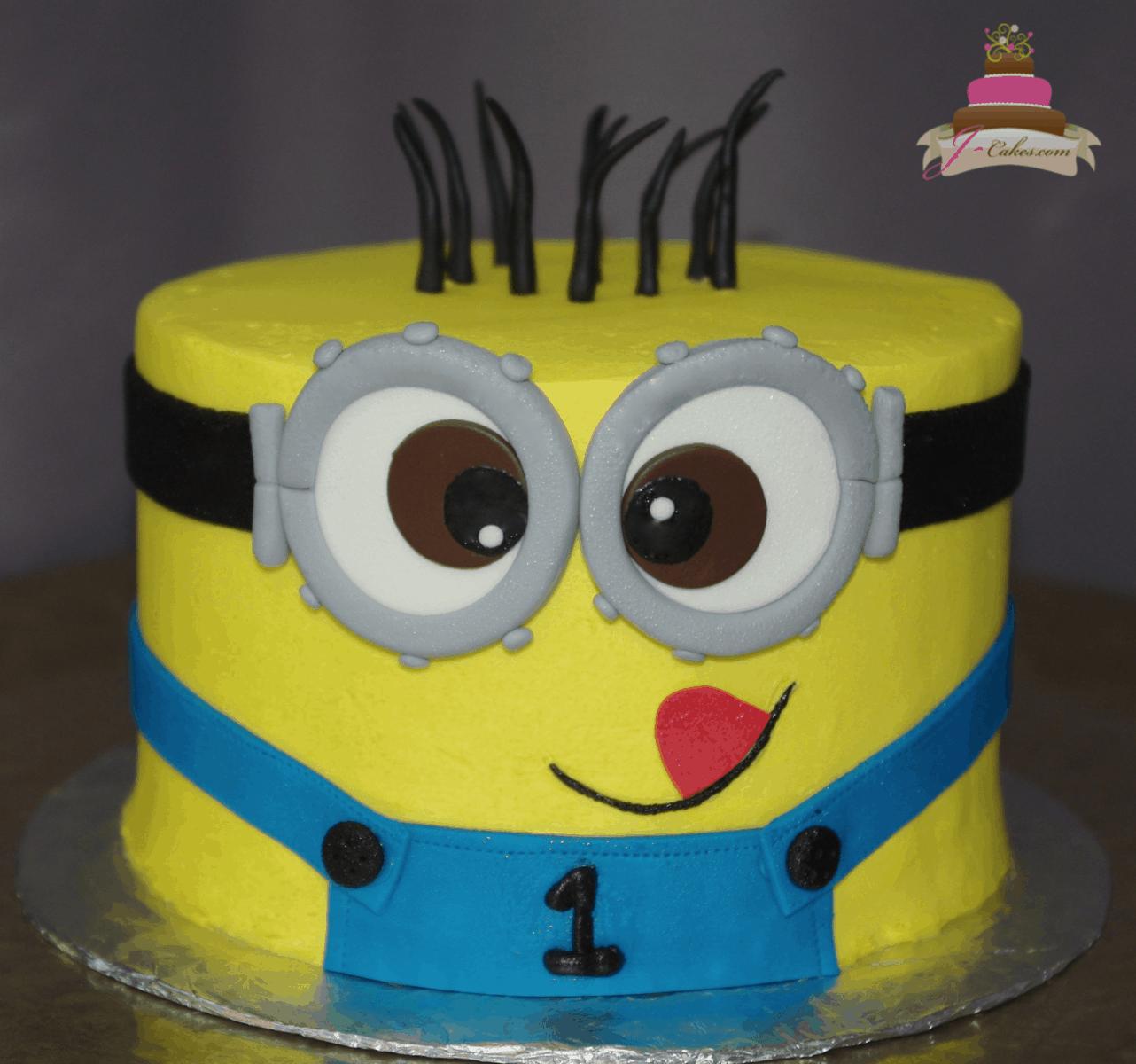 (583) Minion Face Cake