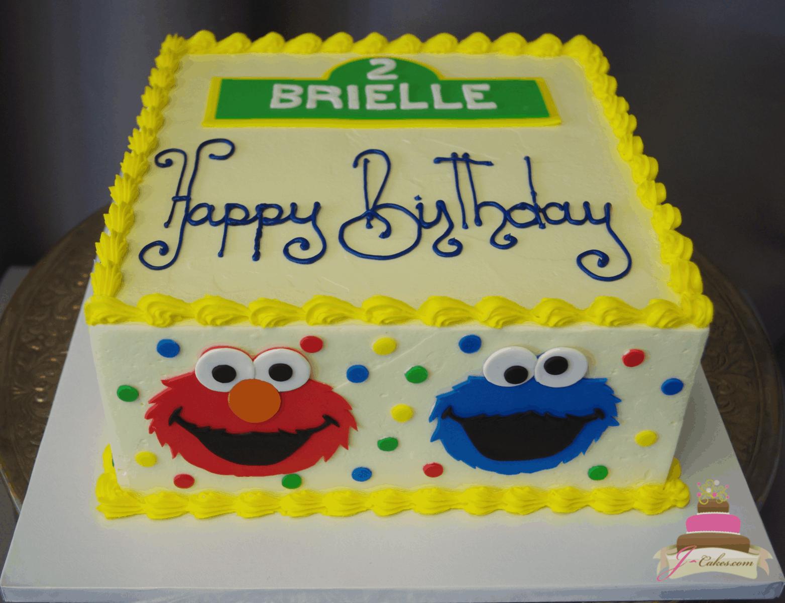 (584) Sesame Street Square Cake