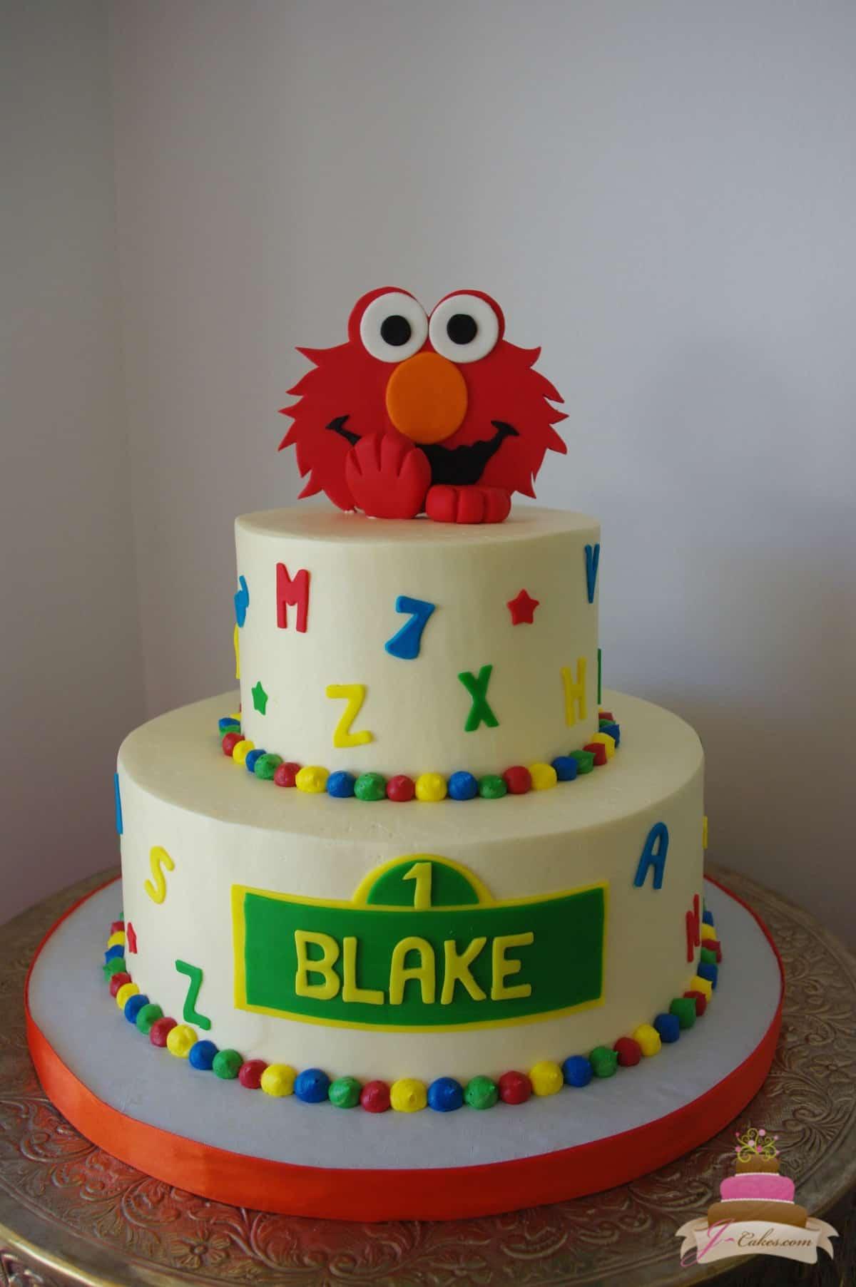 (477) Elmo Alphabet Cake