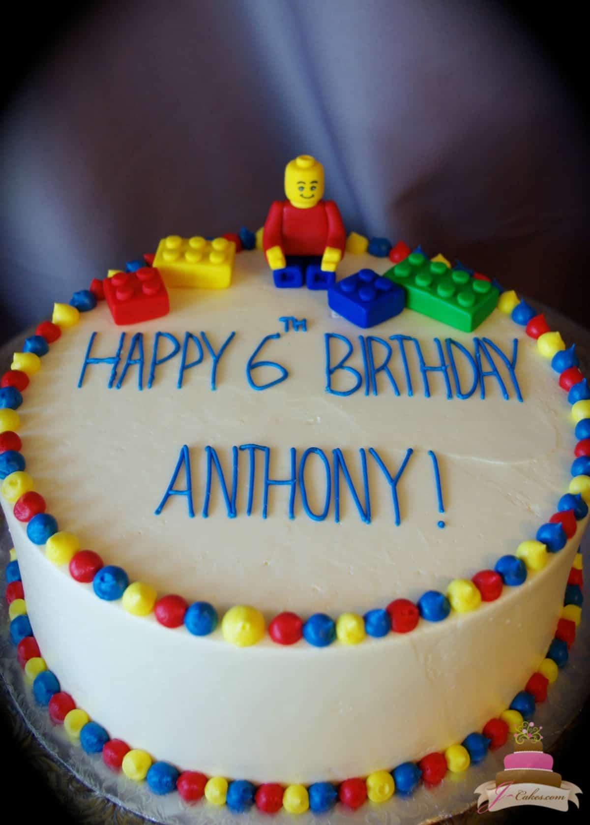 (489) LEGO Theme Cake