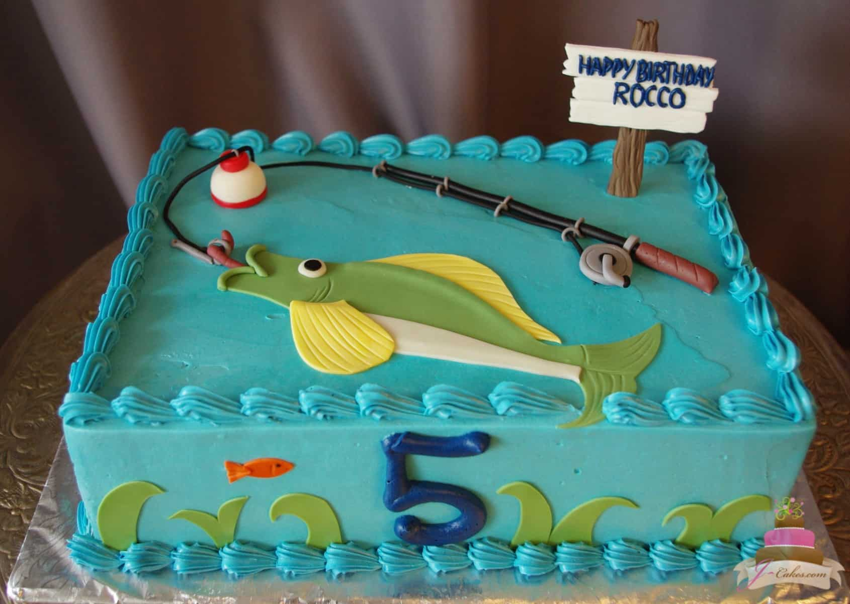 (493) Fishing Theme Cake