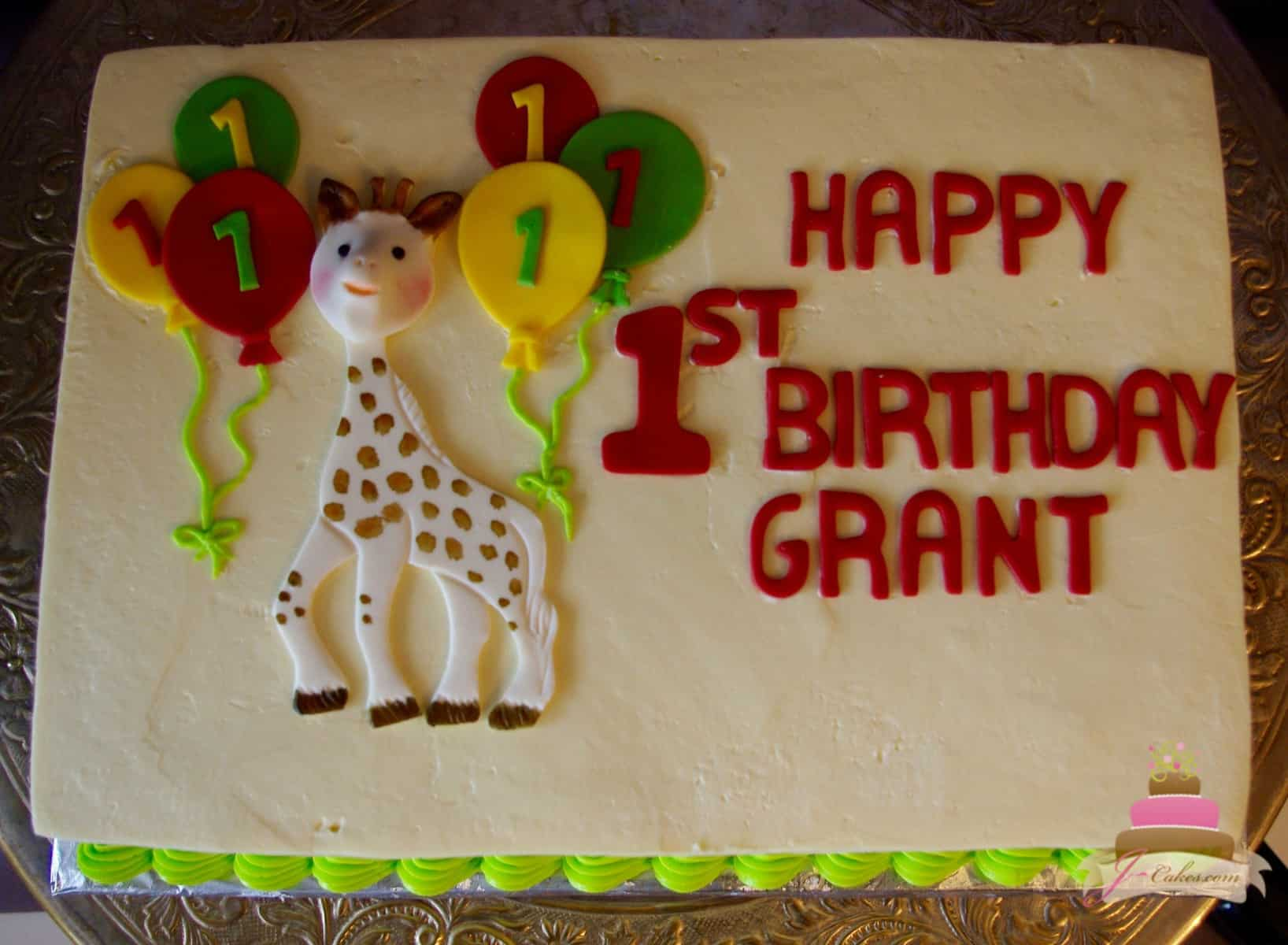 (495) Sophie the Giraffe Theme Cake