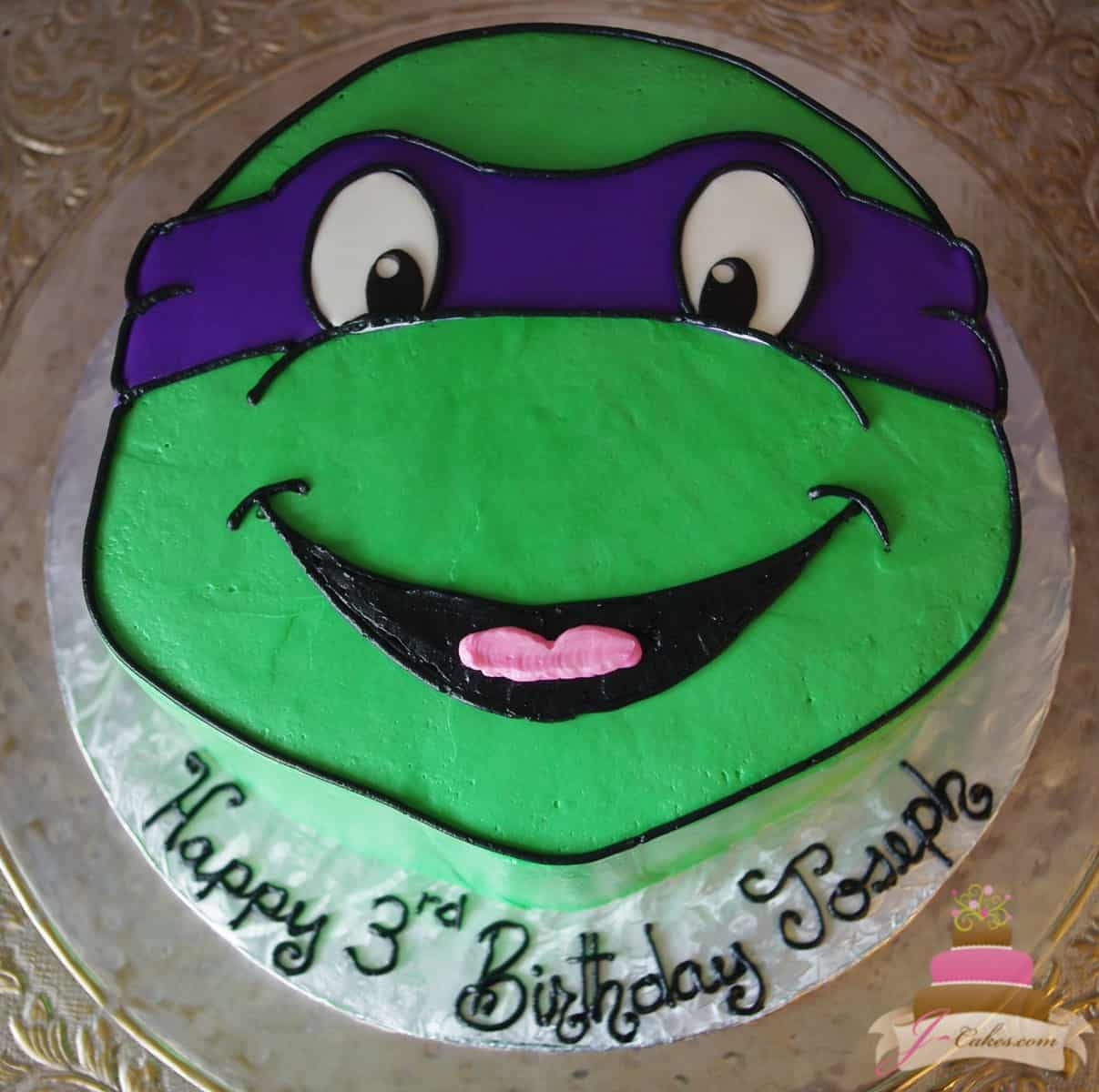 (496) Ninja Turtle Shaped Cake