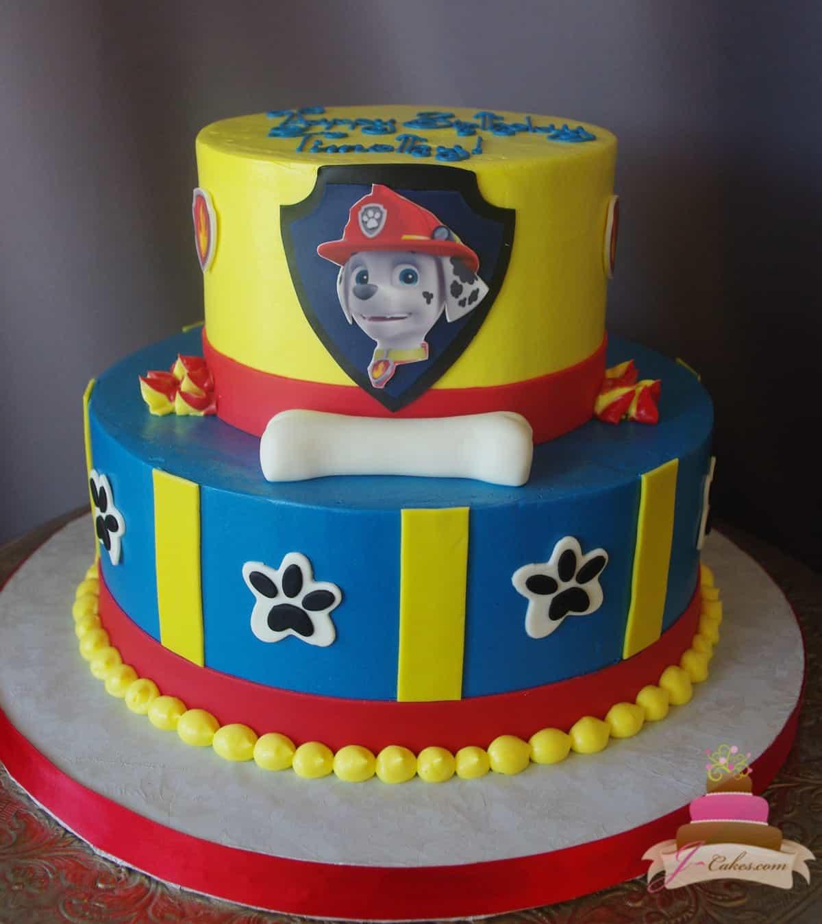 (500) Paw Patrol Theme Cake
