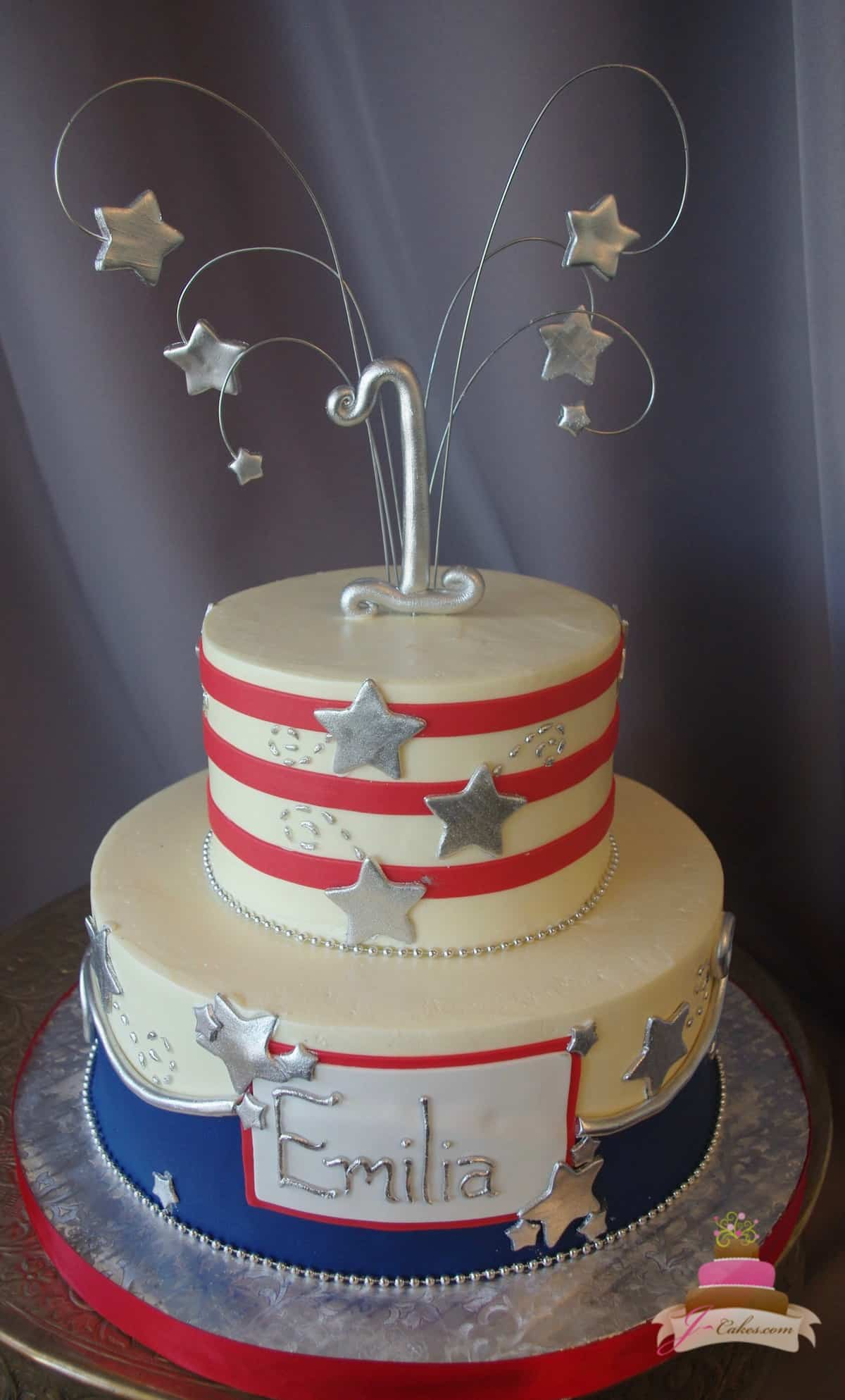 (504) Independence Day 1st Birthday Cake