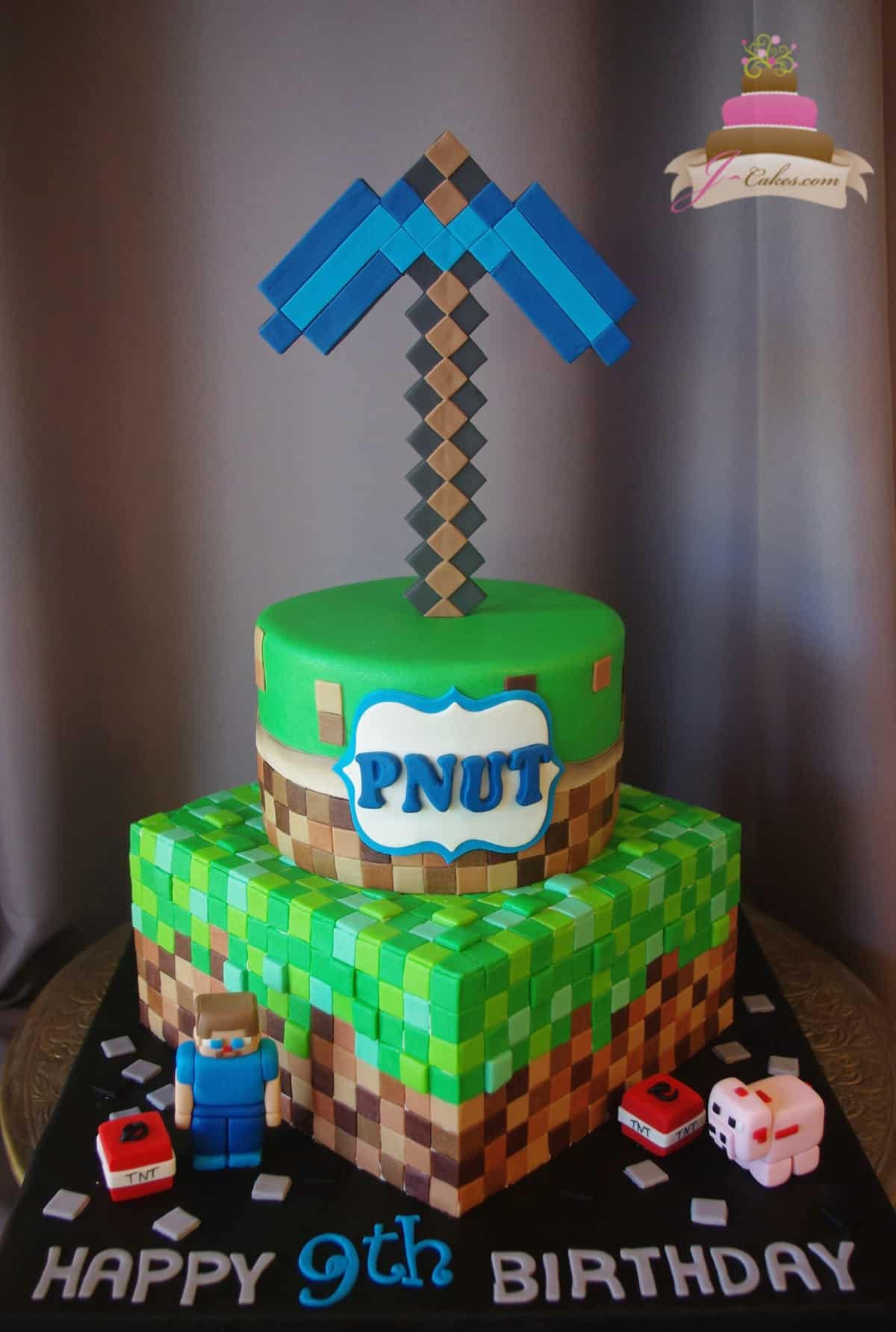 (508) Tiered Minecraft Theme Cake