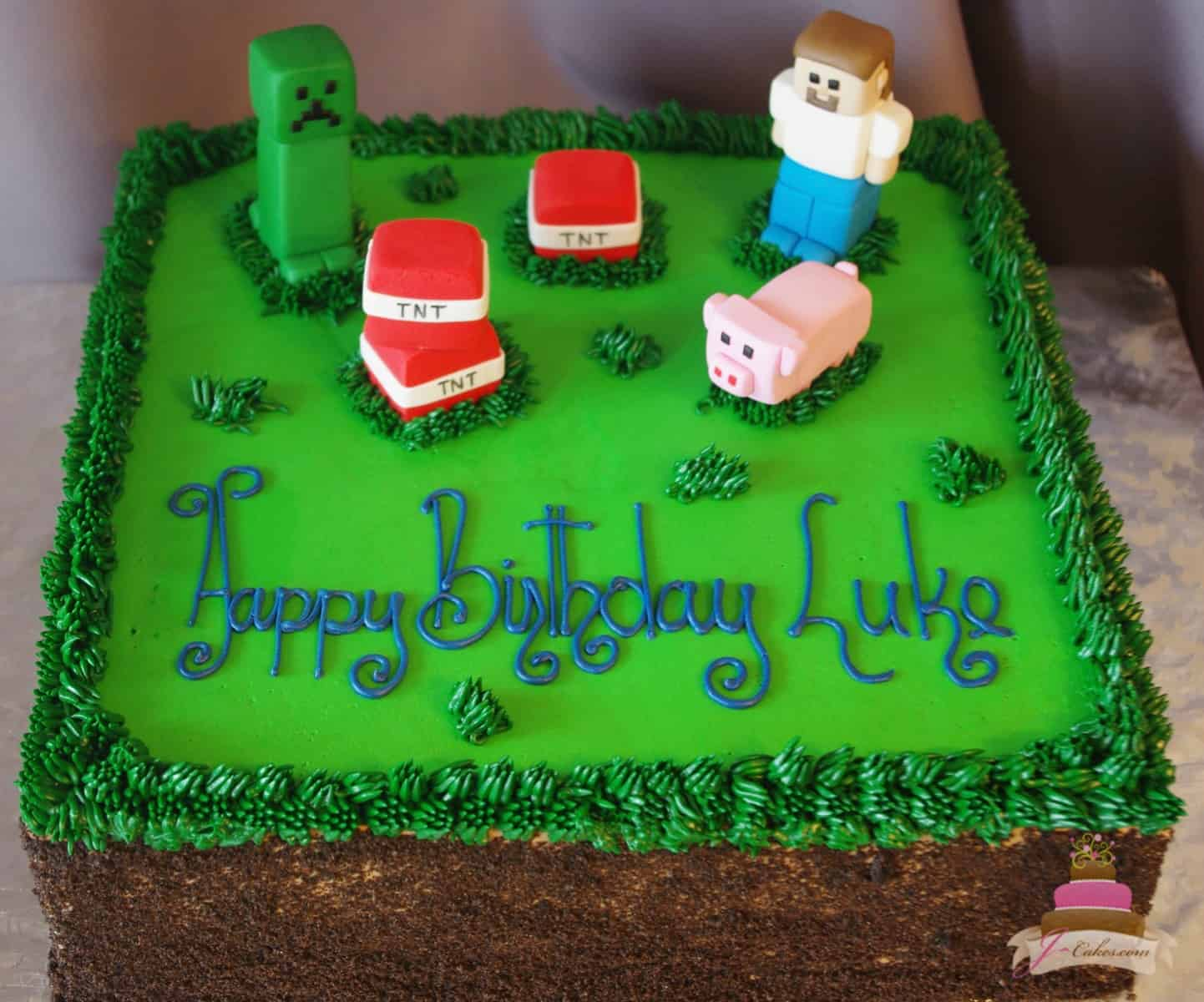 (517) Minecraft Theme Sheet Cake