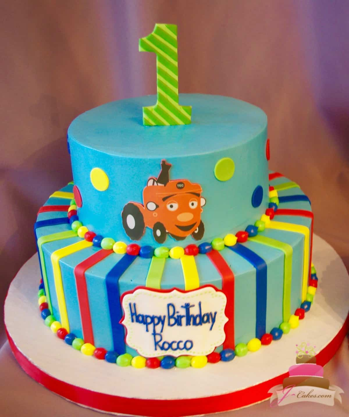 (519) TEC the Tractor Theme Tiered Cake