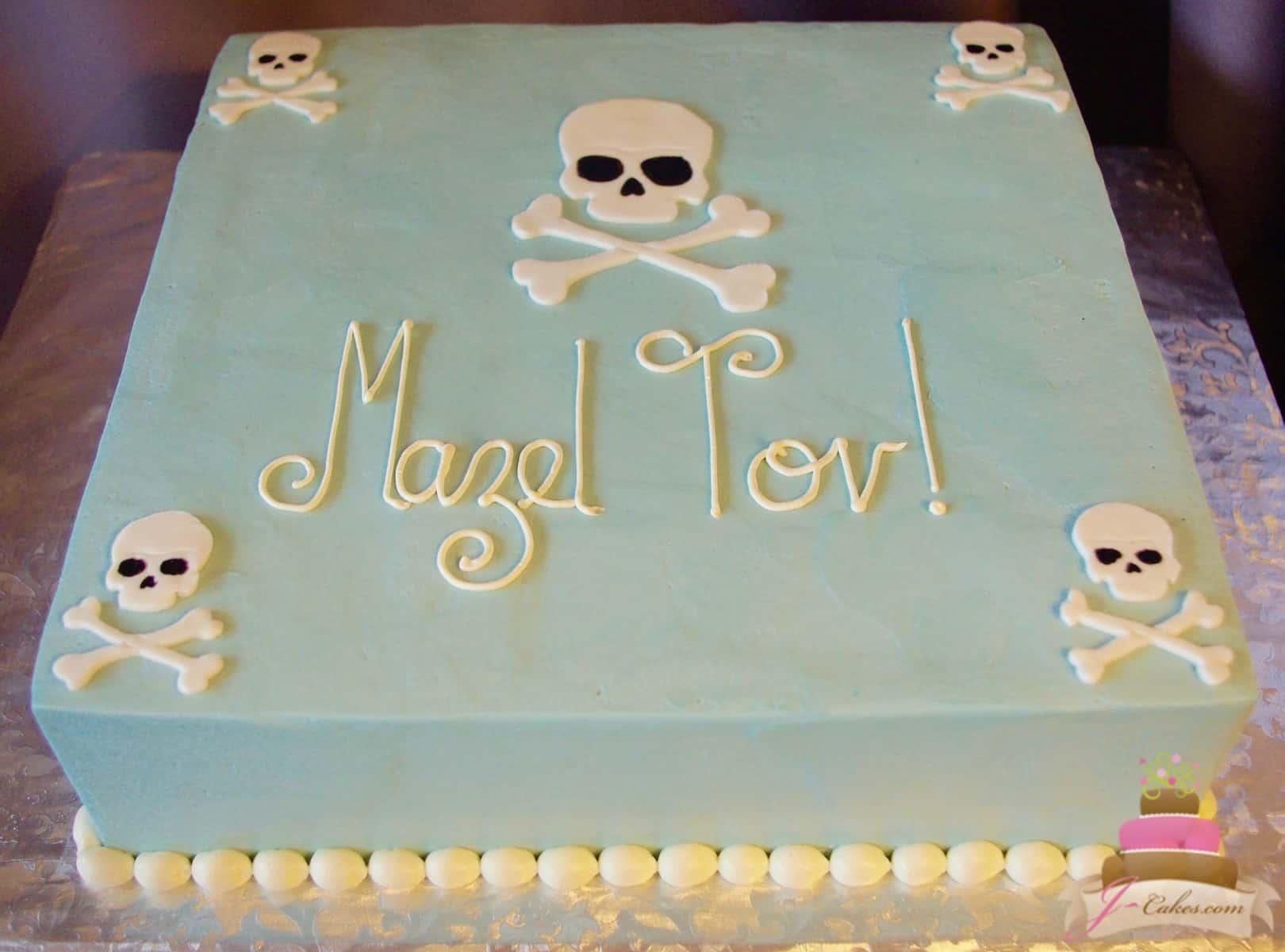 (520) Skull theme Bat Mitzvah Cake