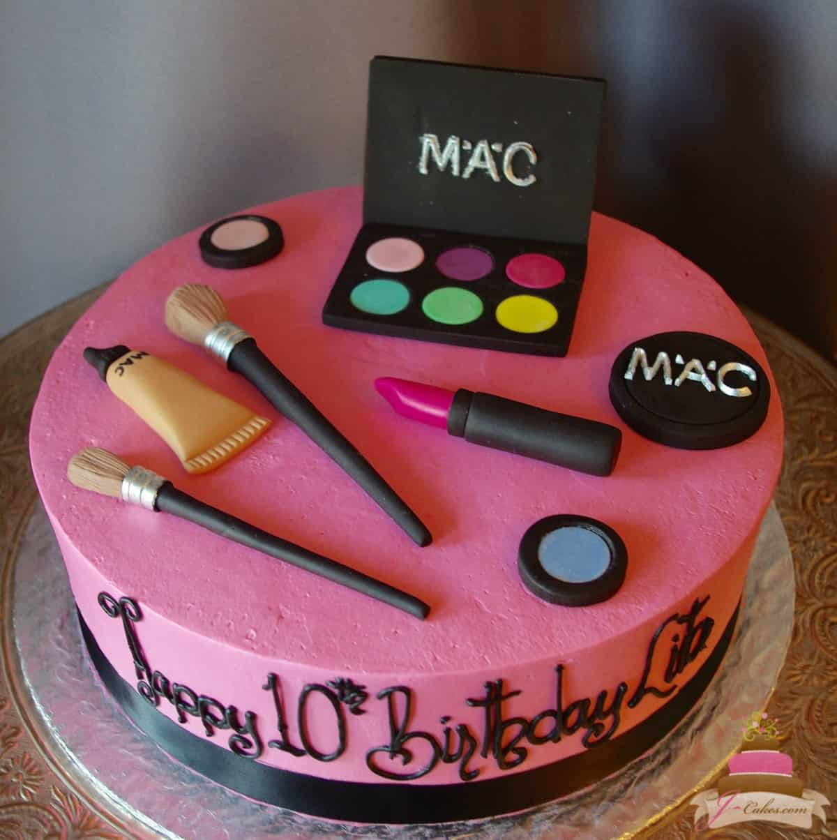 (522) MAC Make-Up Theme Cake