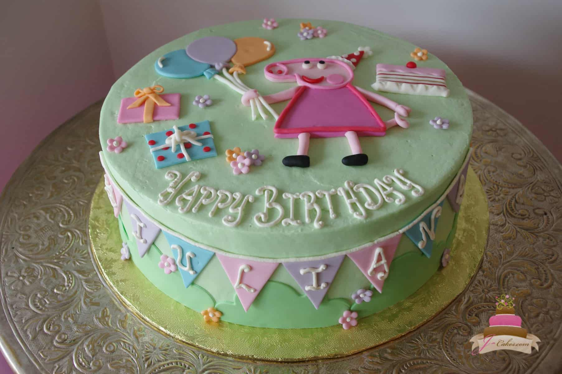 (483) Peppa Pig Cake