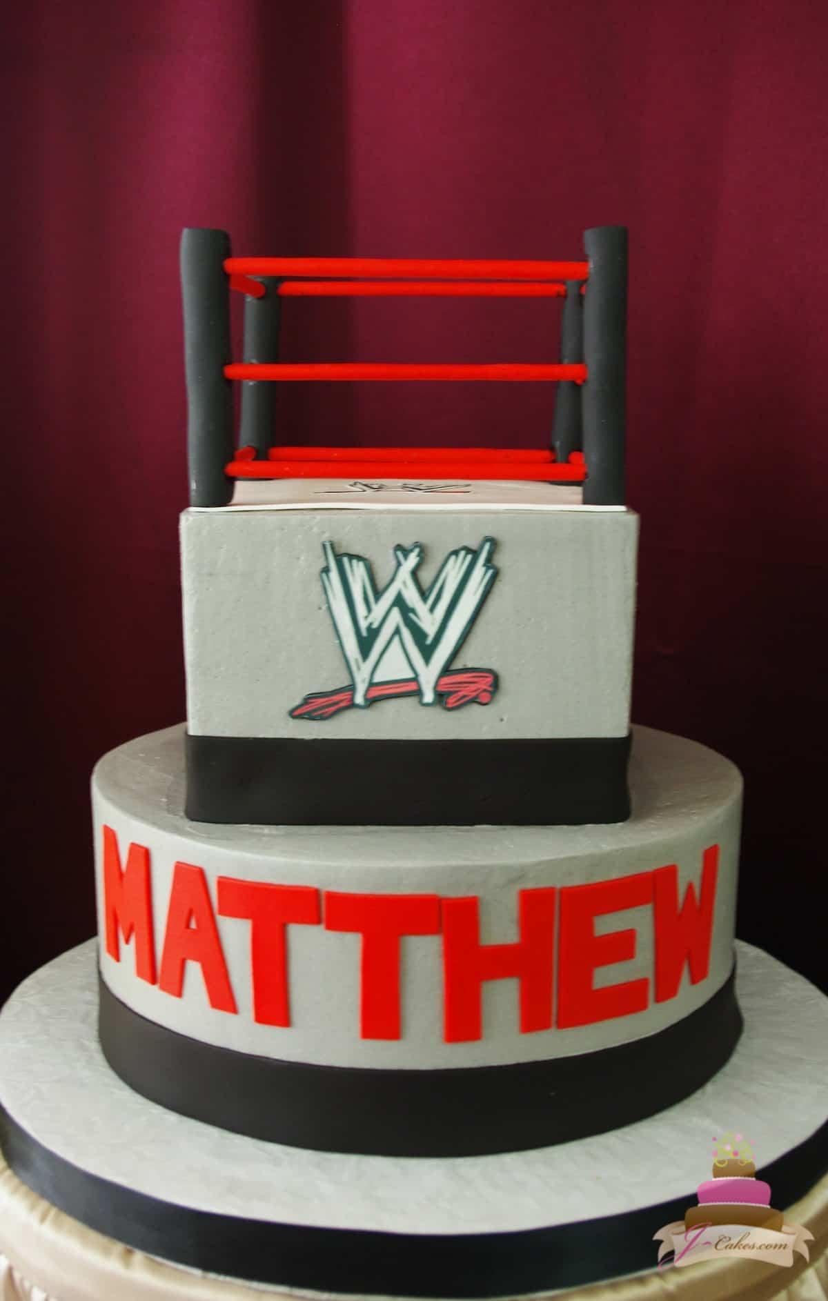 (488) Wrestling Theme Cake