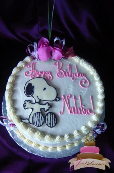 (404) Snoopy Birthday Cake