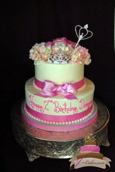 (406) Pink Princess Birthday Cake