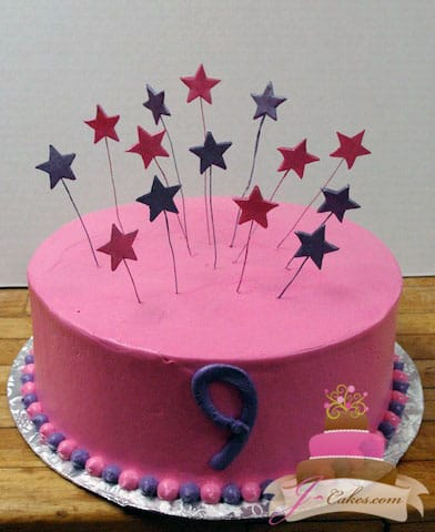 (408) Star Birthday Cake