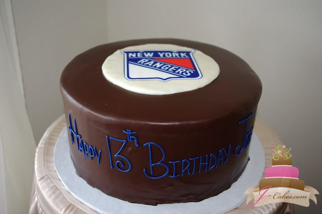 (430) Hockey Puck Birthday Cake
