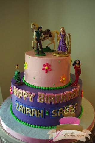 (433) Rapunzel Tiered Birthday Cake