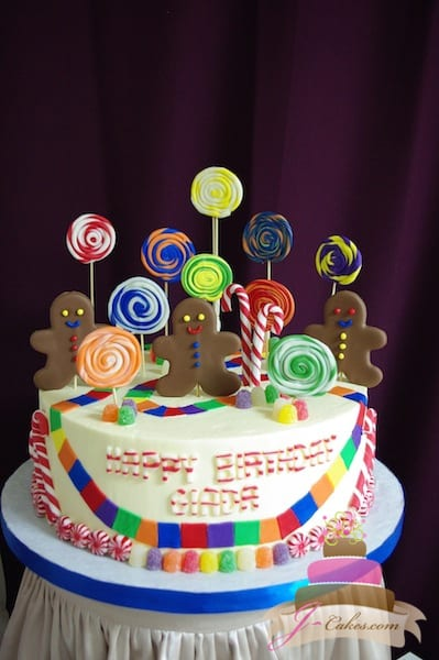 (440) Candy Land Birthday Cake