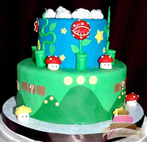 (448) Super Mario Bros. Theme Birthday Cake