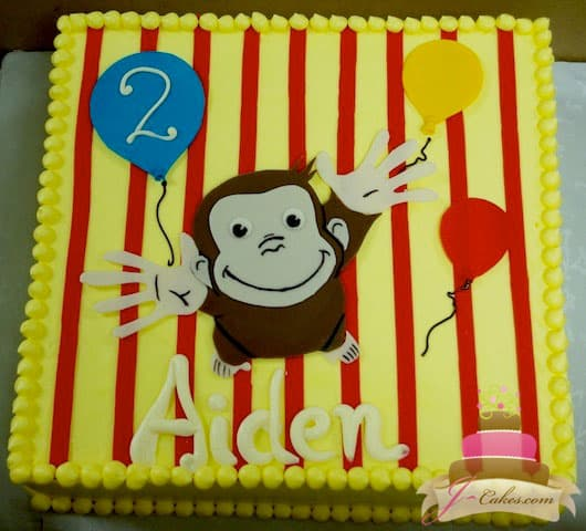 (466) Curious George Birthday Sheet Cake