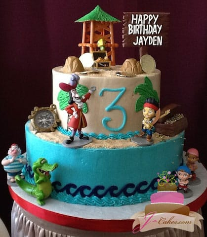 (470) Jake and the Neverland Pirates Birthday Cake