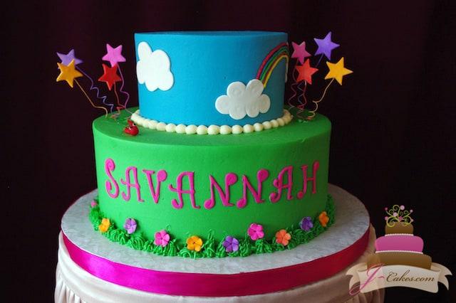 (471) Springtime Birthday Cake