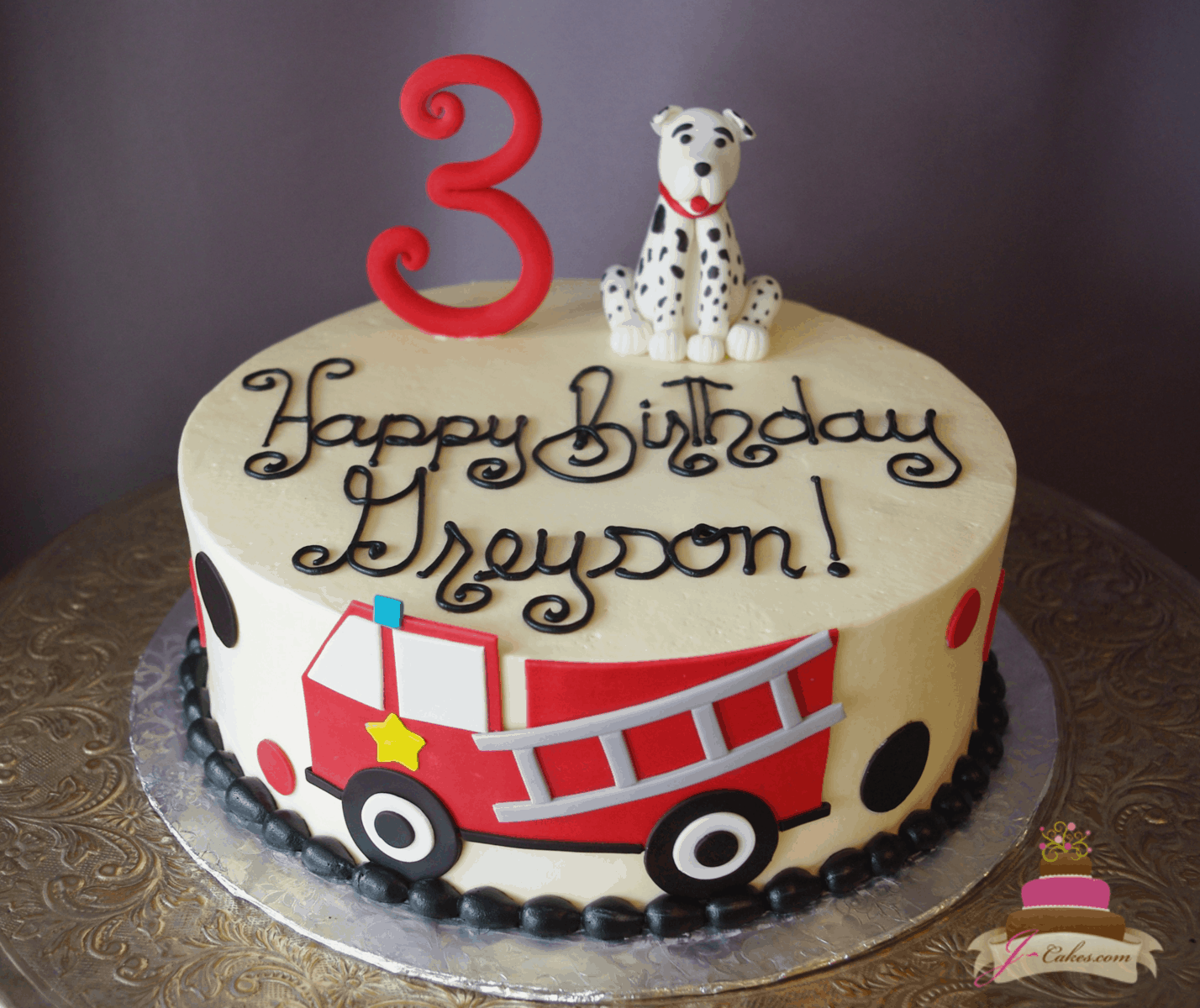 (547) Firefighter Theme Cake