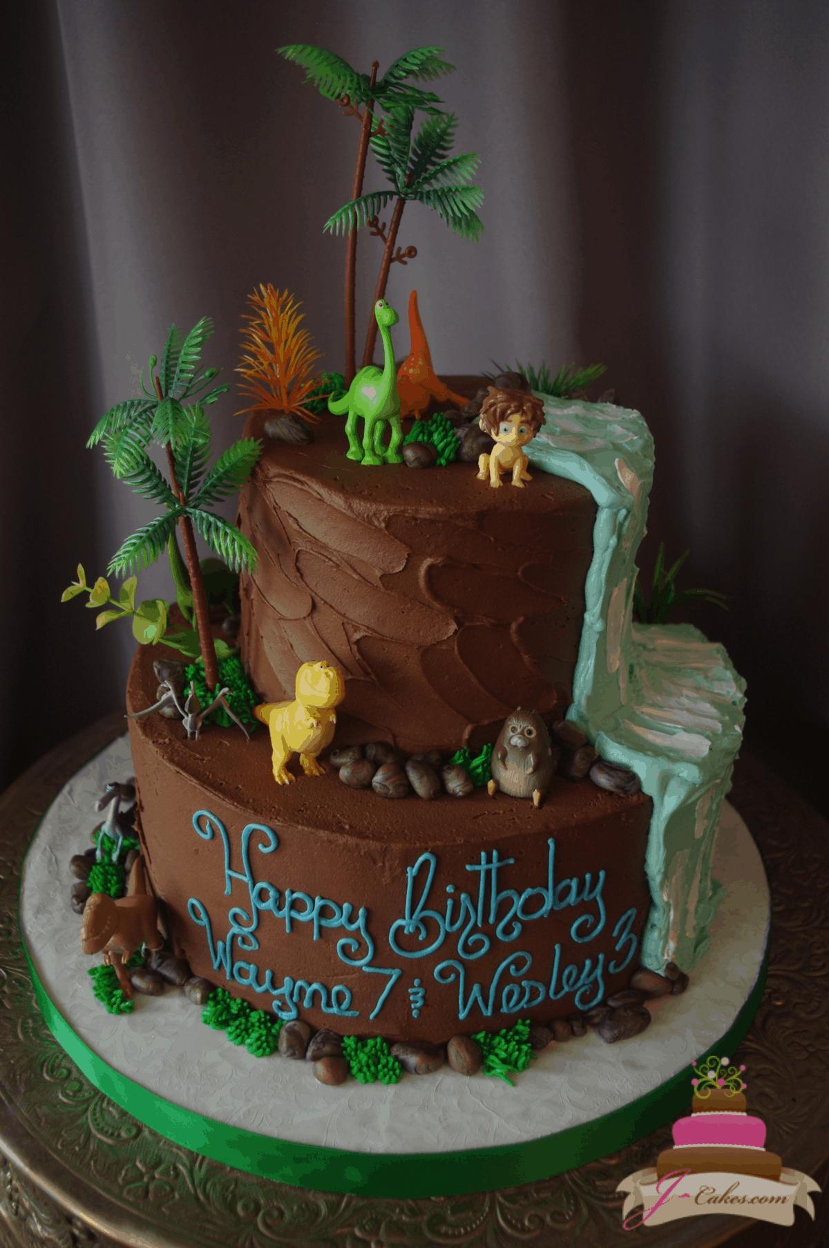 (557) The Good Dinosaur Tiered Cake
