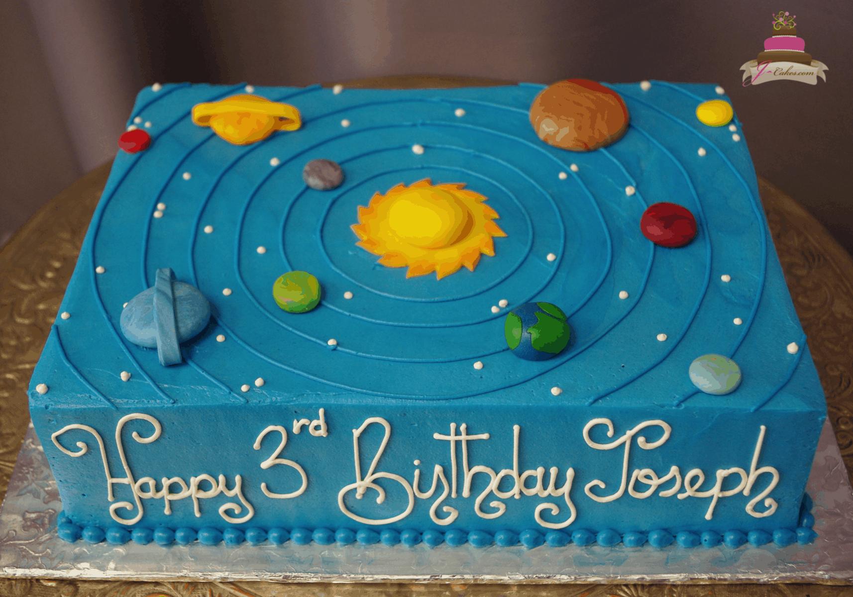 (567) Solar System Sheet Cake