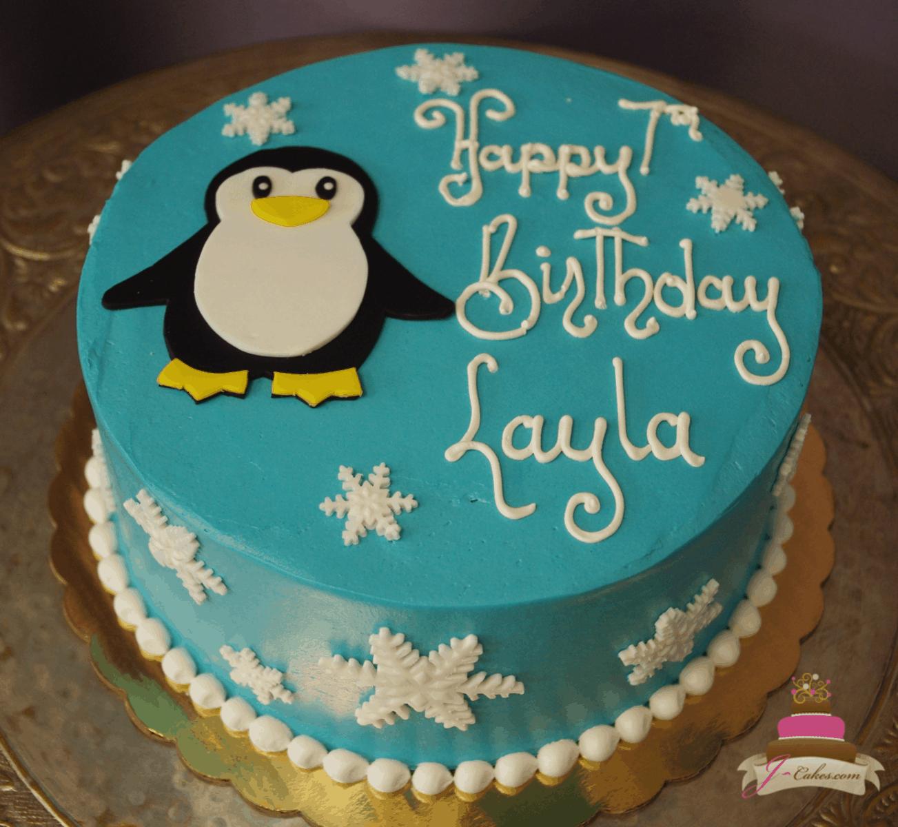 (578) Simple Penguin Cake
