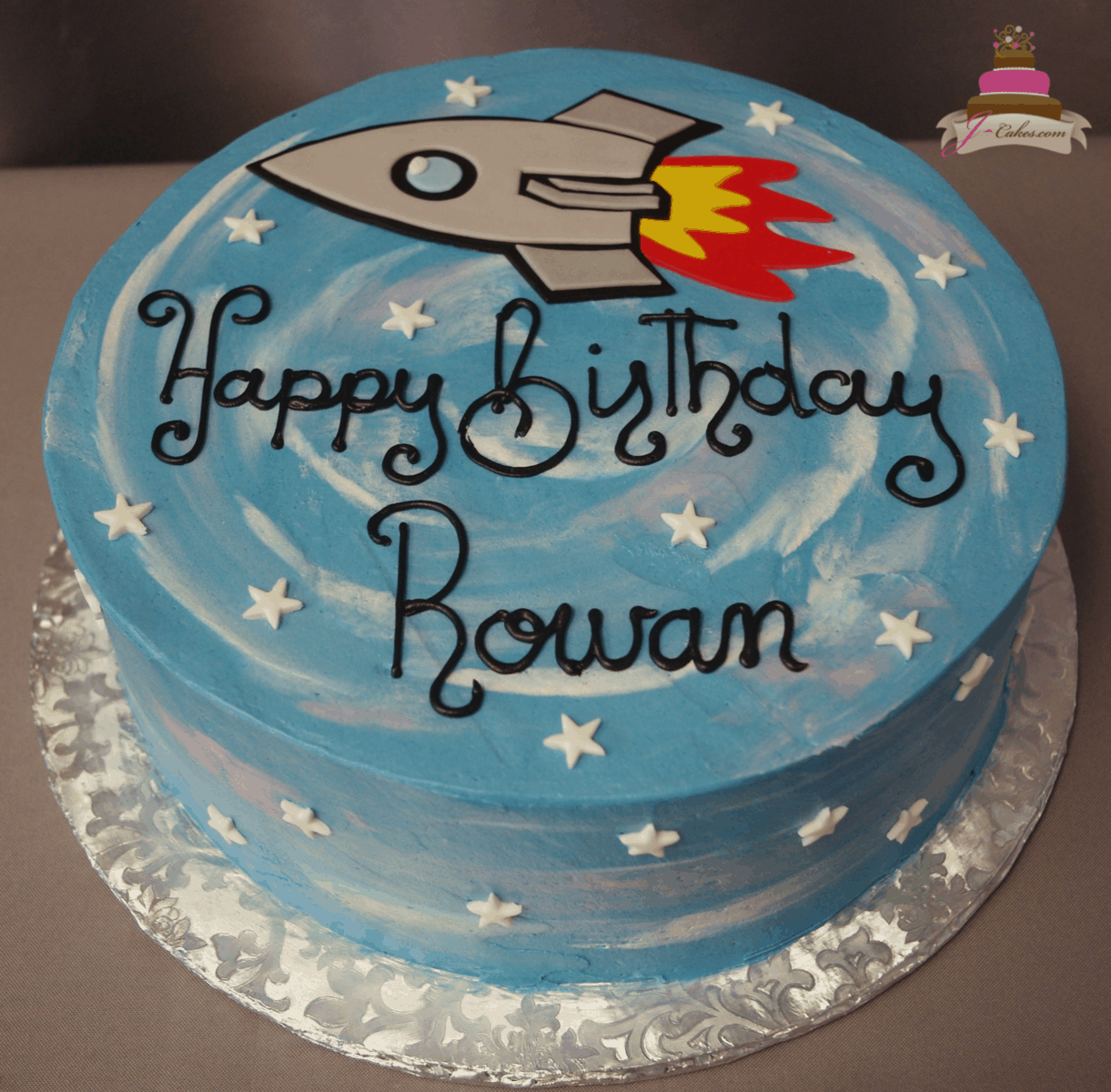 Peachy Rocket Ship Cake Design The Cake Boutique Funny Birthday Cards Online Overcheapnameinfo