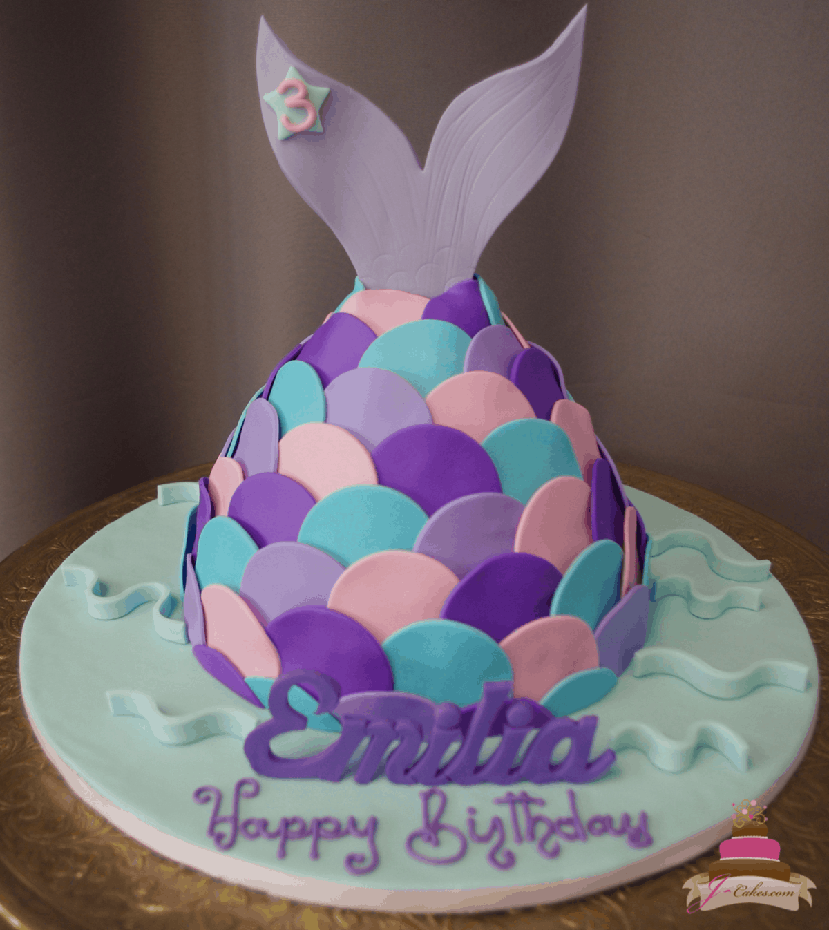 582 Mermaid Tail Cake
