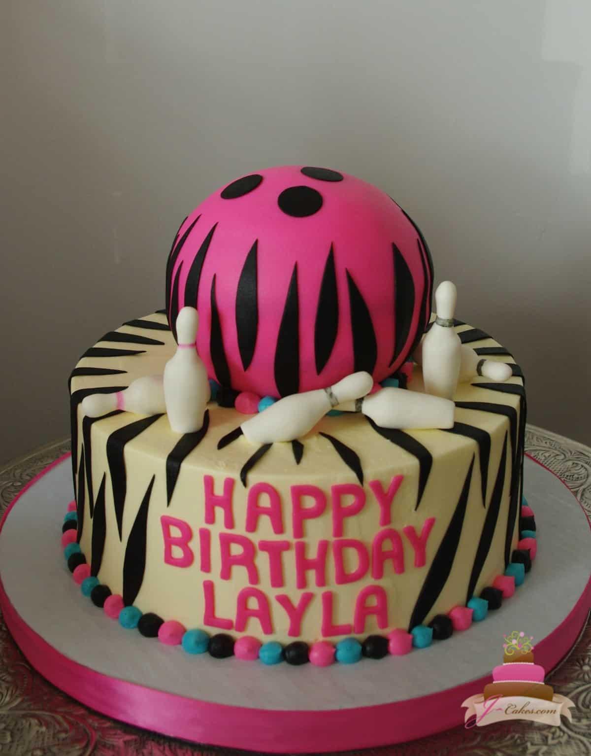 (474) Bowling Ball Cake