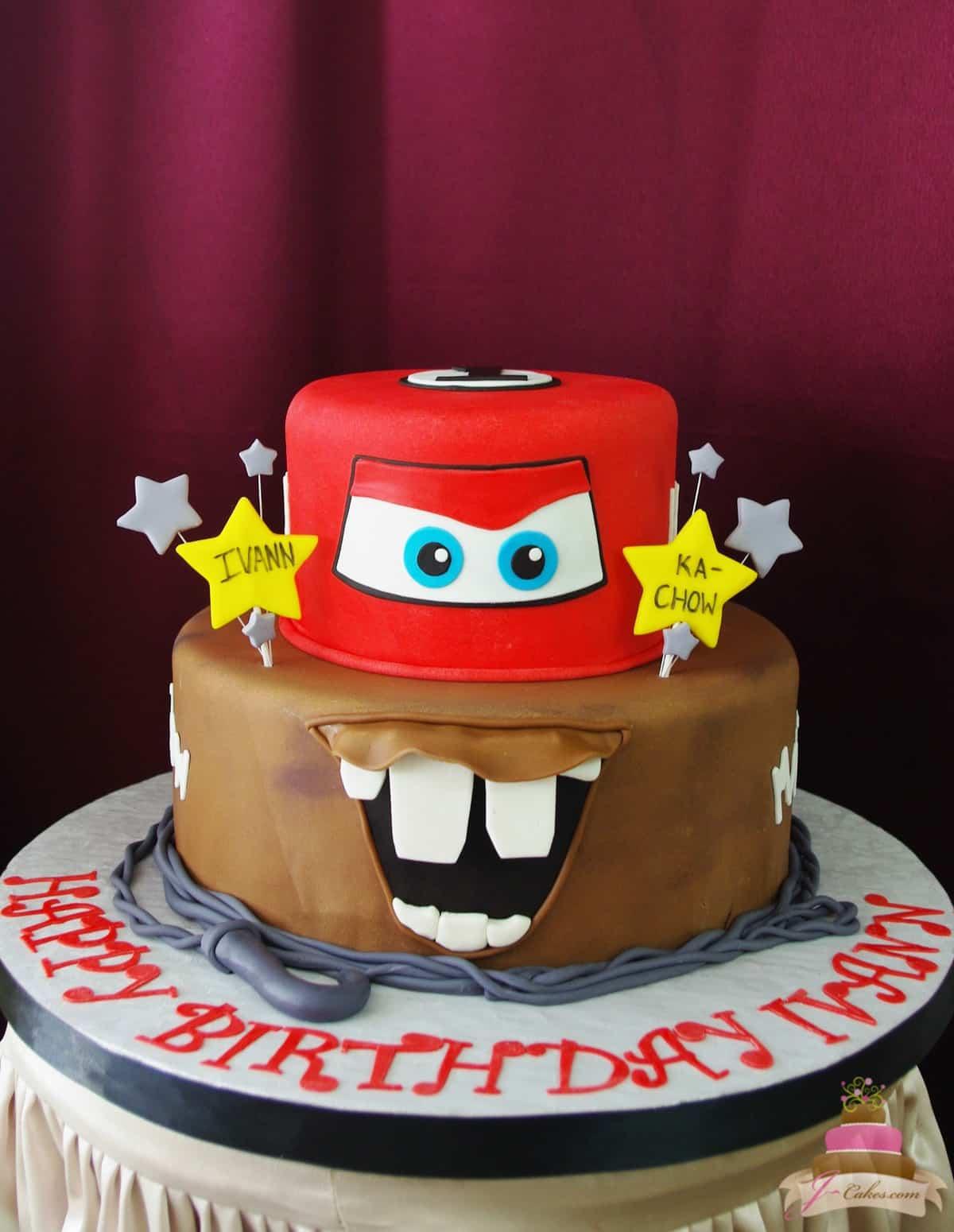 (475) Cars Theme Cake